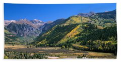 Landscape With Mountain Range Bath Towel
