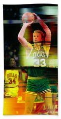 Larry Bird Hand Towel by Marvin Blaine