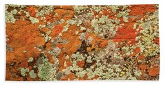 Bath Towel featuring the photograph Lichen Abstract by Mae Wertz