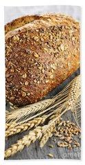 Loaf Of Multigrain Bread Hand Towel