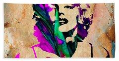 Marilyn Monroe Painting Hand Towel