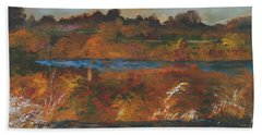 Mendota Slough Bath Towel
