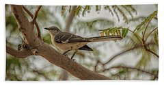 Mockingbird Hand Towel by Robert Bales