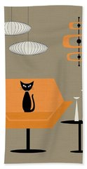 Mod Chair In Orange Hand Towel
