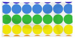 Mod Pop Mid-century Modern Circles Rainbow Hand Towel