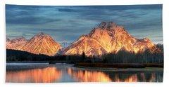 Mount Moran Hand Towel by Steve Stuller