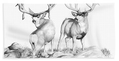 2 Muley Bucks Hand Towel