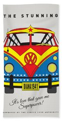My Superhero-vw-t1-wonder Woman Hand Towel