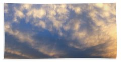 Nebraska Mammatus Sunset Bath Towel