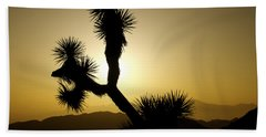 New Photographic Art Print For Sale Joshua Tree At Sunset Bath Towel