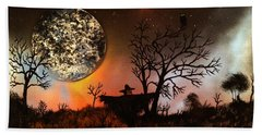 Night Of The Scarecrow  Bath Towel by Michael Rucker