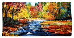 October Bliss Bath Towel by Al Brown