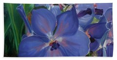 Orchids Hand Towel by Donna Tuten