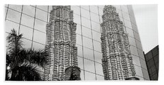 Petronas Towers Reflection Hand Towel