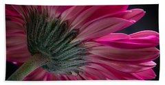 Pink Flower Hand Towel by Edgar Laureano