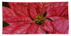 Poinsettia Hand Towel by Marna Edwards Flavell