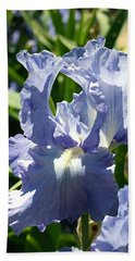 Purple Bearded Iris Bath Towel