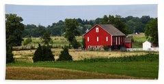 Red Barn Gettysburg Bath Towel