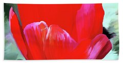 Hand Towel featuring the photograph Red Hot by Patricia Griffin Brett