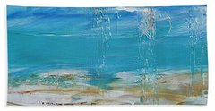 Bath Towel featuring the painting Reflections by Diana Bursztein