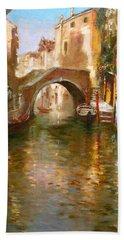 Romance In Venice  Hand Towel