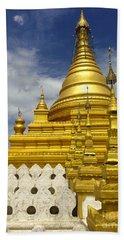 Bath Towel featuring the photograph Sandamuni Pagoda Mandalay Burma by Ralph A  Ledergerber-Photography
