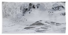Seafoam Wave Hand Towel by Jani Freimann