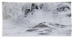 Bath Towel featuring the photograph Seafoam Wave by Jani Freimann