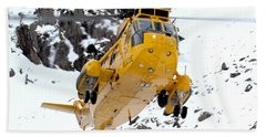 Seaking Helicopter Hand Towel by Paul Fearn