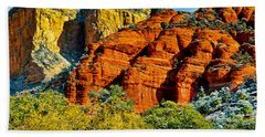 Hand Towel featuring the photograph Sedona Arizona - Wilderness Area by Bob and Nadine Johnston
