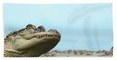 See You Later Alligator Hand Towel by Ellen Henneke