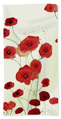 Sonata Of Poppies Bath Towel