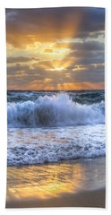 Splash Sunrise Bath Towel by Debra and Dave Vanderlaan