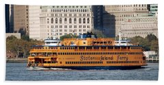 Staten Island Ferry Bath Towel by Rob Hans