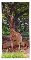 Stretching It Bath Towel by Michele Myers