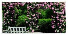 Pink Rose Garden Hand Towel