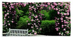 Pink Rose Garden Bath Towel