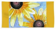 Summer Susans Hand Towel by Angela Davies