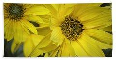 Sunflowers Bath Towel by Fran Gallogly
