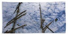 Tall Ship Mast Bath Towel by Dale Powell