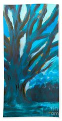 The Blue Tree Bath Towel