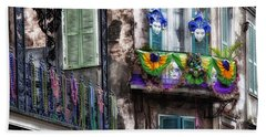 The French Quarter During Mardi Gras Hand Towel by Mountain Dreams
