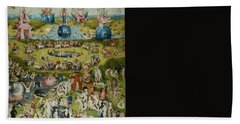 The Garden Of Earthly Delights Bath Towel by Hieronymus Bosch
