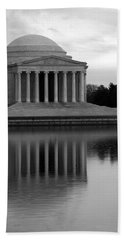 Hand Towel featuring the photograph The Jefferson Memorial by Cora Wandel