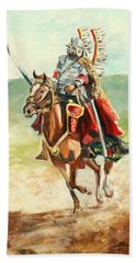 The Polish Winged Hussar Hand Towel