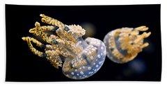 The Spotted Jelly Or Lagoon Jelly Mastigias Papua Bath Towel