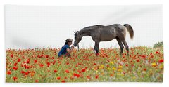 Bath Towel featuring the photograph Three At The Poppies' Field... 4 by Dubi Roman