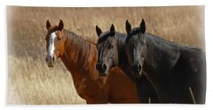 Three Horses Bath Towel