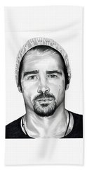Total Recall  Colin Farrell Hand Towel by Fred Larucci