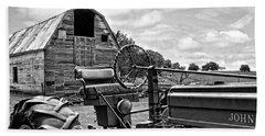 Tractor Barn Bath Towel